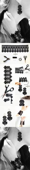 DIY-Lace-Bracelet-and-Earrings (123x700, 17Kb)