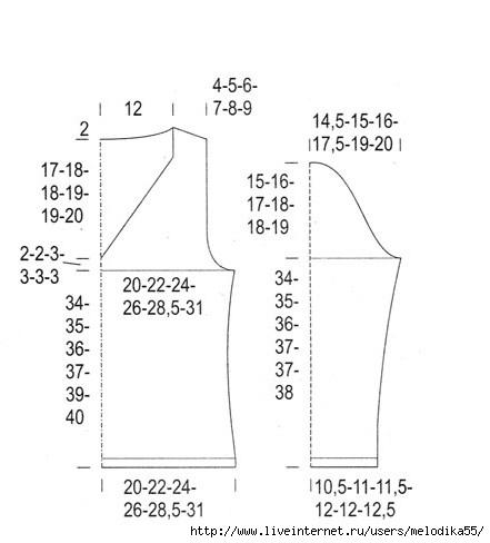 выкройка блузка с v-образным