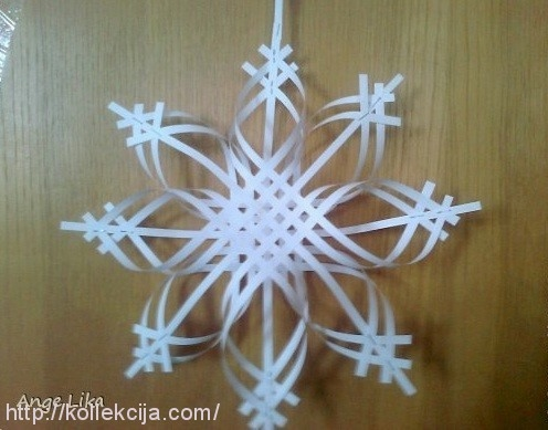 Поделки своими руками снежинки из бумаги фото