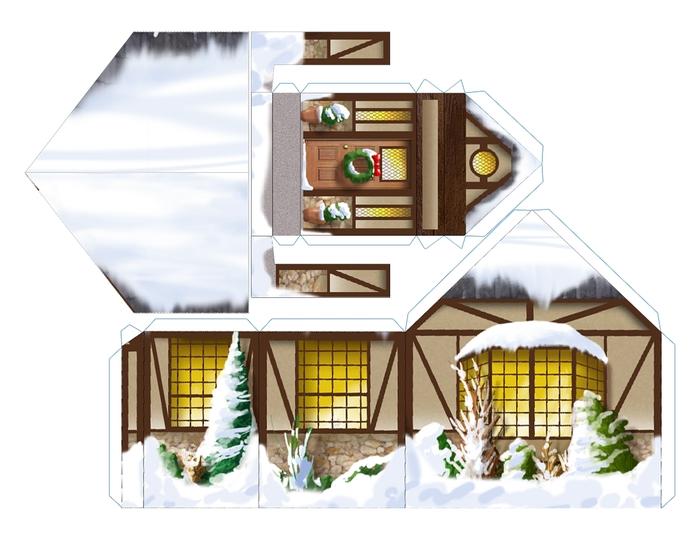 Красивый домик из бумаги