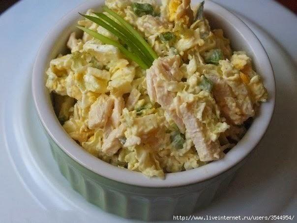 Салат из пекинской капусты с курицей (604x453, 119Kb)