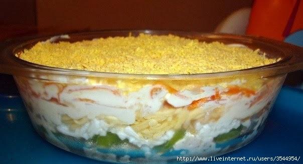Салат из курицы с корейской морковью и киви (604x328, 96Kb)