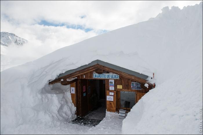 снежный грот в альпах фото (700x467, 232Kb)
