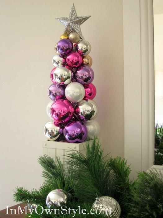 новогодний топиарий из елочных шаров (14) (525x700, 203Kb)