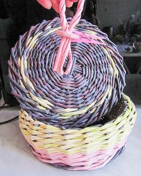 Плетение из газет. Нежная ажурная шкатулка (14) (478x598, 258Kb)