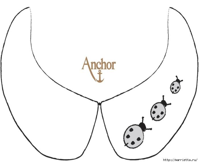 Воротничок для девочки с вышивкой божьих коровок (1) (700x573, 70Kb)