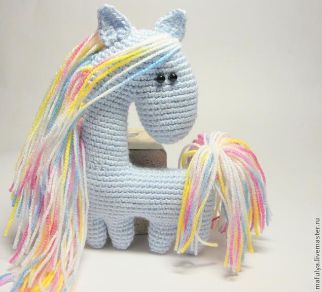 Нежная лошадка крючком. А зовут ее СНЕЖИНКА) (27) (635x576, 131Kb)