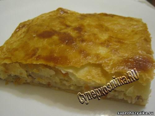 пирог с картошкой мясом рецепт с фото