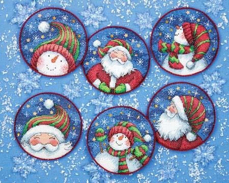 Дед Мороз и снеговики.