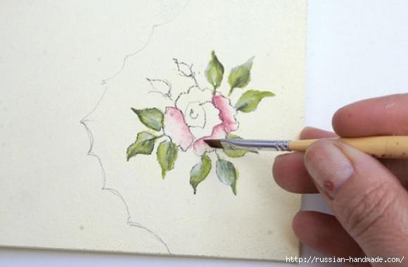 Фото мастер-класс по росписи стеклянной масленки (9) (580x379, 90Kb)