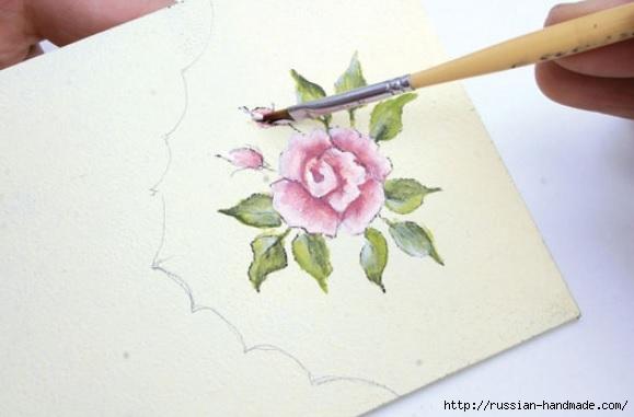 Фото мастер-класс по росписи стеклянной масленки (11) (579x381, 94Kb)