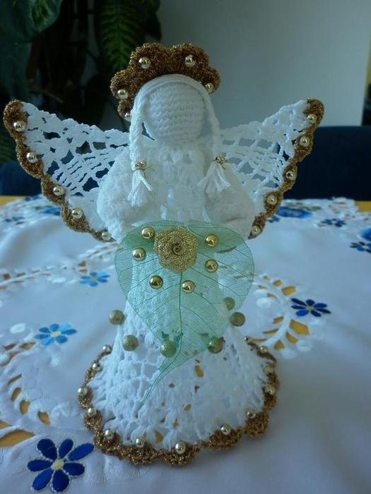 Рождественские ангелы крючком (89) (525x700, 226Kb)
