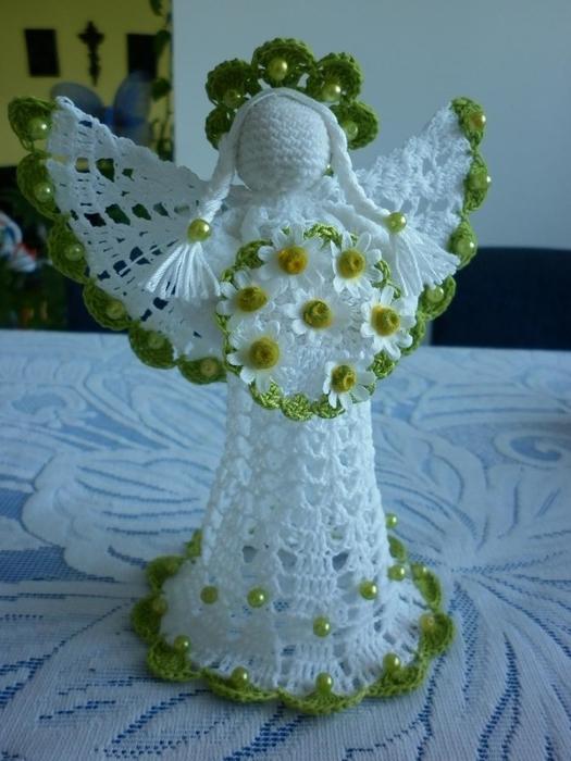 Рождественские ангелы крючком (112) (525x700, 232Kb)