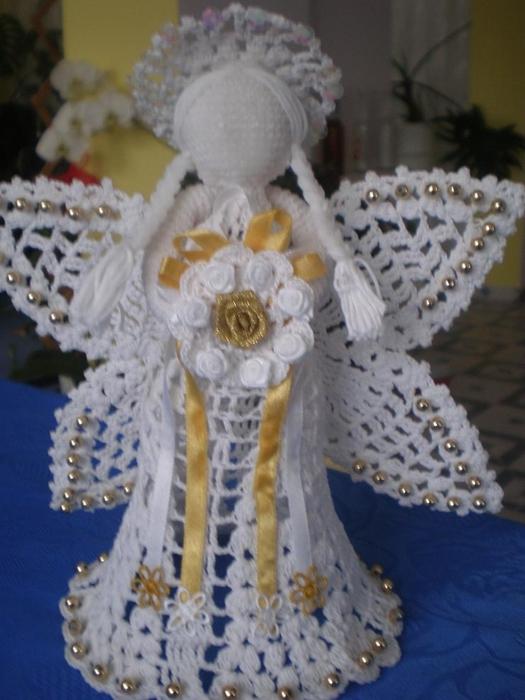 Рождественские ангелы крючком (114) (525x700, 227Kb)