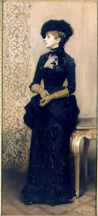 1Charles-Alexandre Giron, La Parisienne, 1883  (318x700, 91Kb)