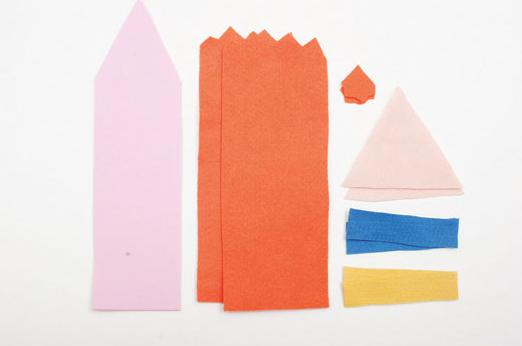 Закладка для книжки. Карандаш из фетра (1) (522x346, 140Kb)