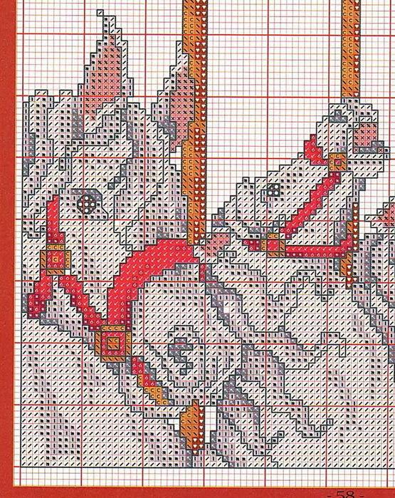 Часть 24 - Маки: схема вышивки