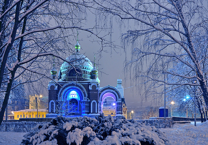 Сумерки зимние, сумерки синие!