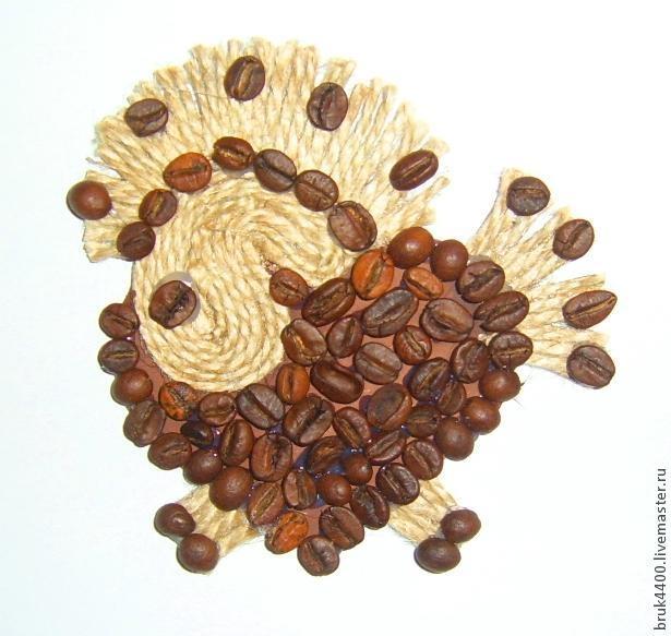 Кофейно-джутовые лошадки - магнитики на холодильник (1) (615x583, 145Kb)