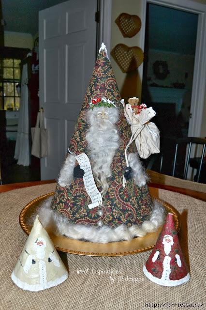 Дед Мороз и елочная игрушка из картона (2) (426x640, 237Kb)