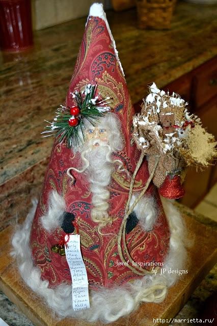 Дед Мороз и елочная игрушка из картона (22) (426x640, 250Kb)