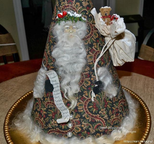 Дед Мороз и елочная игрушка из картона (24) (640x597, 349Kb)