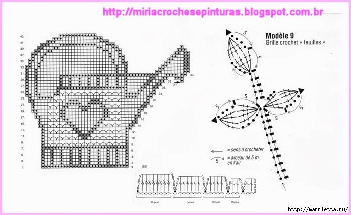Вязание крючком интересные идеи для дома со схемами и описанием 65