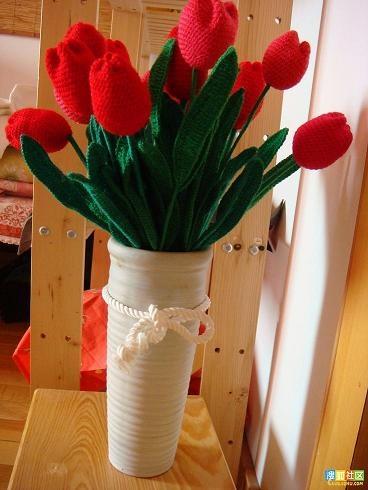 Вязание цветов крючком. ТЮЛЬПАНЫ (2) (368x490, 119Kb)