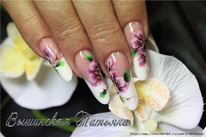 Китайская роспись ногти дизайн