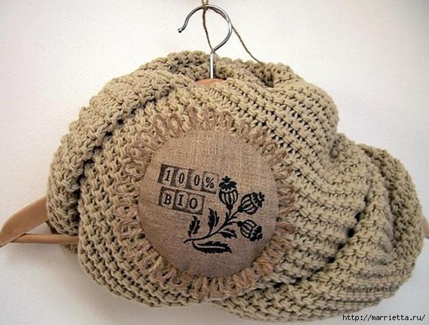 Идеи упаковки новогодних подарков. Шьем мешочки и украшаем их орешками (23) (624x472, 206Kb)