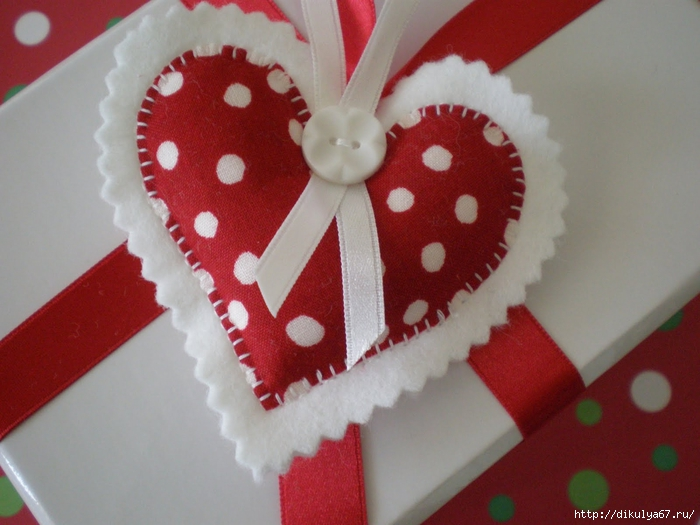 Валентинка из фетра фото