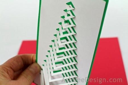 Новогодние елочки из картона. Открытка и силуэтная елочка (10) (450x300, 65Kb)