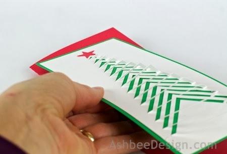 Новогодние елочки из картона. Открытка и силуэтная елочка (14) (450x305, 61Kb)