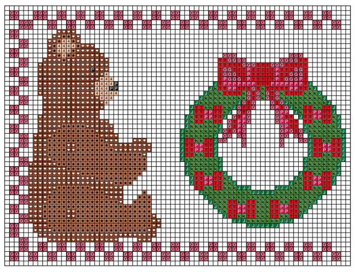 Рождественская вышивка. Схемы (7) (700x537, 550Kb)