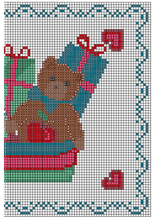 Рождественская вышивка. Схемы (10) (504x700, 541Kb)