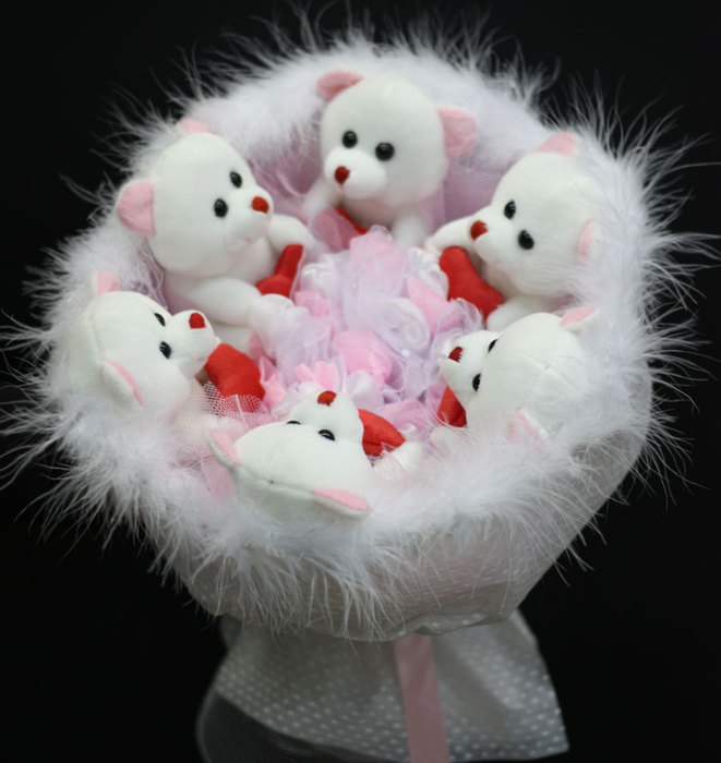 Фото цветов из мягких игрушек