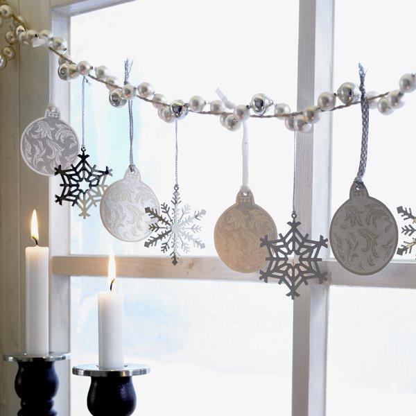 Идеи для украшения окон на новый год