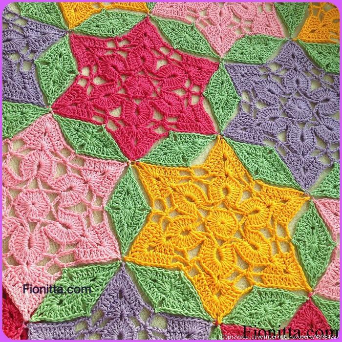 """钩针教程:"""" 六角形的钩花与连接 """" - maomao - 我随心动"""