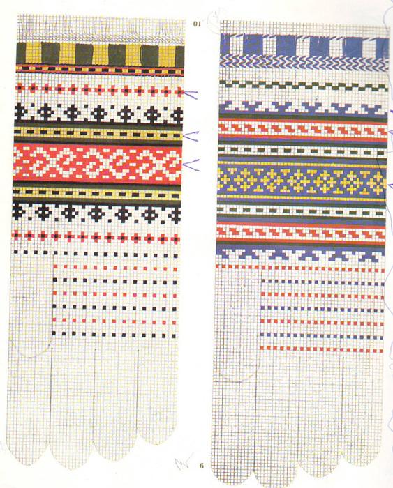 Орнаменты для вязаных спицами варежек и перчаток/4683827_6 (563x700, 308Kb)