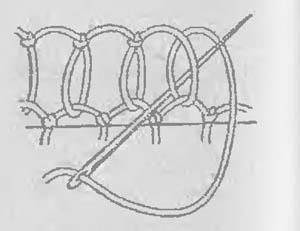 Плетение сетки иглой