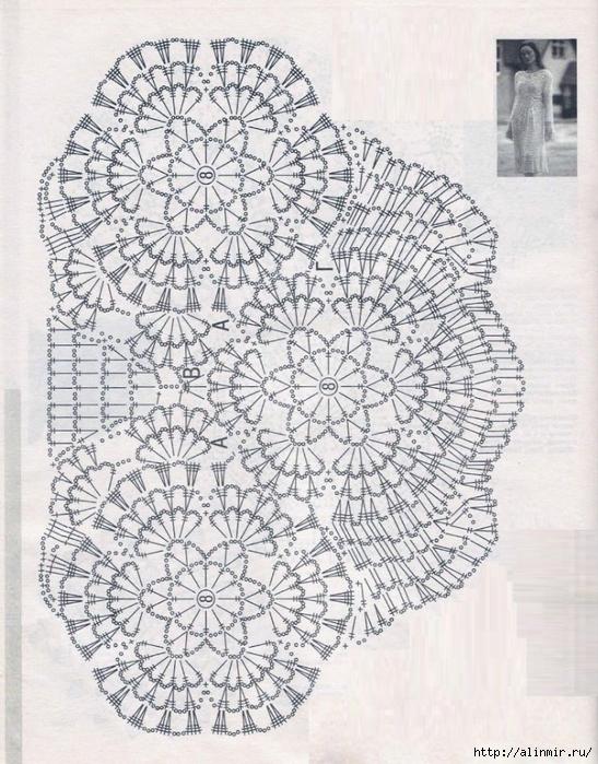 стильная туника вязание схема (547x700, 359Kb)
