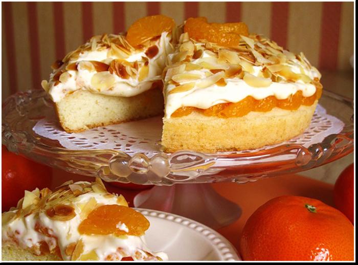 бисквитный торт мандарины в раю