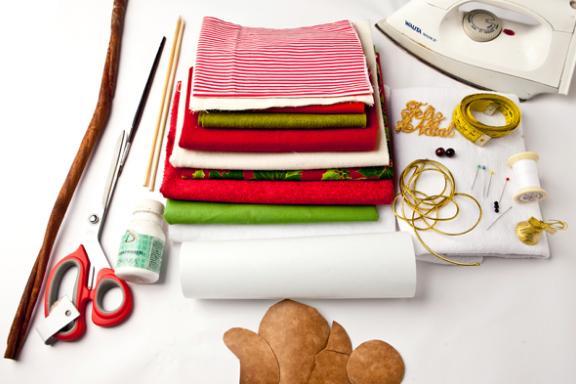 Calendario Adviento textiles.  Modelo del muñeco de nieve (1) (576x384, 390KB)