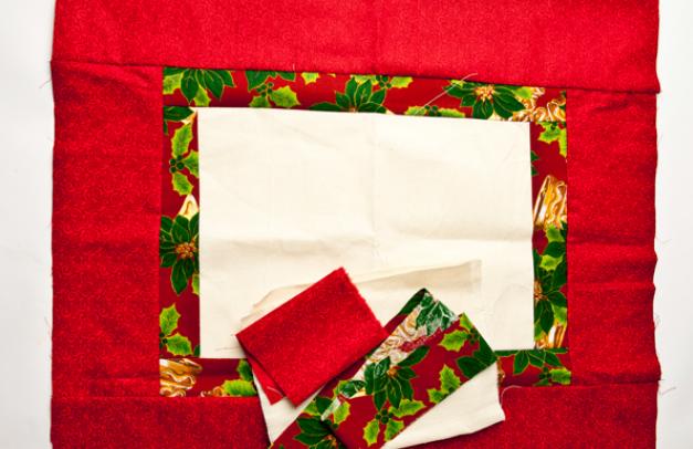 Calendario Adviento textiles.  Modelo del muñeco de nieve (2) (627x406, 482Kb)
