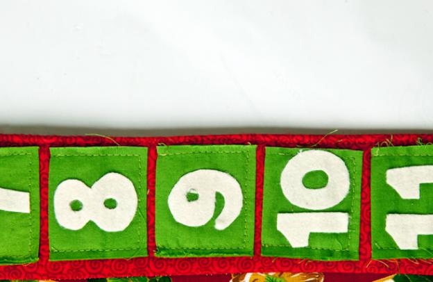 Calendario Adviento textiles.  Modelo del muñeco de nieve (6) (624x406, 423KB)