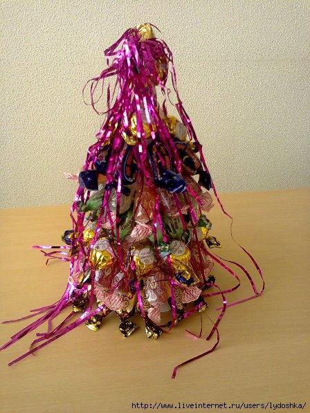 украсить елочку из конфет (448x597, 216Kb)