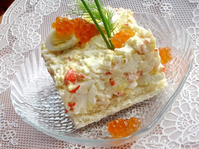 Крабовый салат с перепелиными яйцами (655x491, 307Kb)
