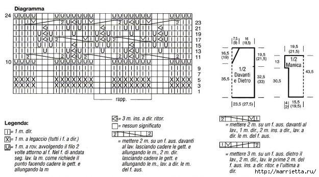 Вязание спицами. модели и схемы узоров (2) (625x347, 141Kb)