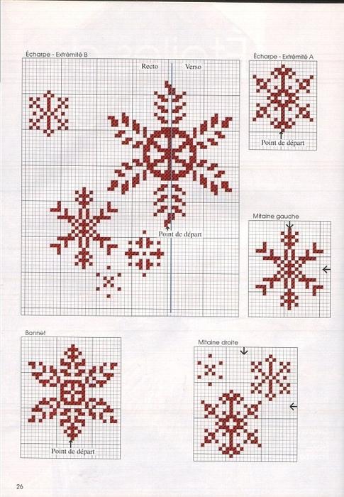 снежинки крестиком схема2