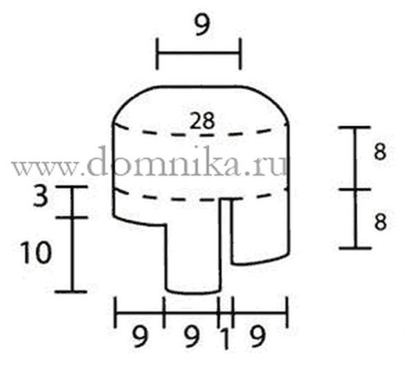 Схема мужских шапок ушанок спицами 160